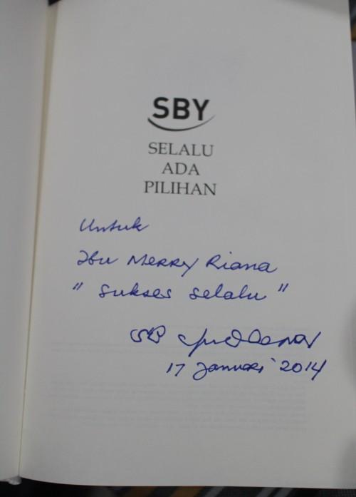 Pesan Bpk SBY utk Merry Riana