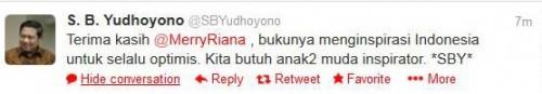 Twitter dari SBY - sudah di blur 2